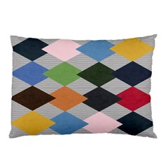 Leather Colorful Diamond Design Pillow Case