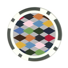 Leather Colorful Diamond Design Poker Chip Card Guard (10 pack)
