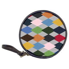 Leather Colorful Diamond Design Classic 20-CD Wallets