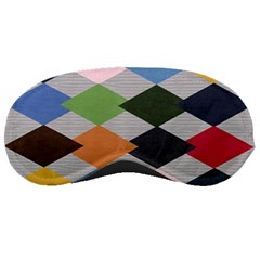 Leather Colorful Diamond Design Sleeping Masks