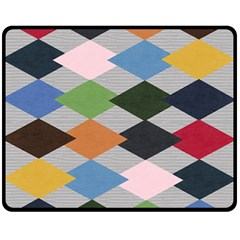 Leather Colorful Diamond Design Fleece Blanket (Medium)