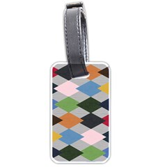 Leather Colorful Diamond Design Luggage Tags (One Side)