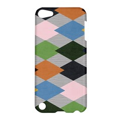 Leather Colorful Diamond Design Apple Ipod Touch 5 Hardshell Case