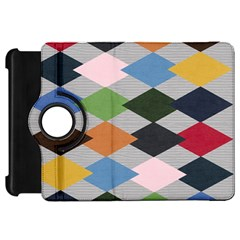 Leather Colorful Diamond Design Kindle Fire Hd 7