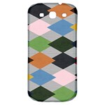 Leather Colorful Diamond Design Samsung Galaxy S3 S III Classic Hardshell Back Case Front
