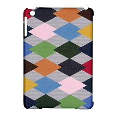 Leather Colorful Diamond Design Apple iPad Mini Hardshell Case (Compatible with Smart Cover)