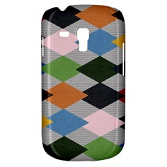 Leather Colorful Diamond Design Galaxy S3 Mini