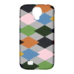Leather Colorful Diamond Design Samsung Galaxy S4 Classic Hardshell Case (pc+silicone)