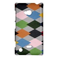 Leather Colorful Diamond Design Nokia Lumia 720