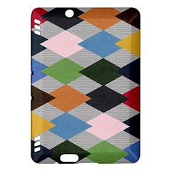 Leather Colorful Diamond Design Kindle Fire Hdx Hardshell Case