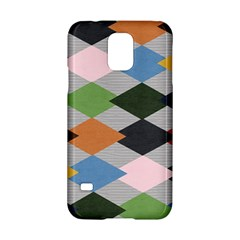 Leather Colorful Diamond Design Samsung Galaxy S5 Hardshell Case