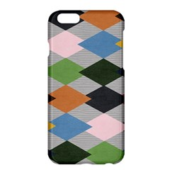 Leather Colorful Diamond Design Apple iPhone 6 Plus/6S Plus Hardshell Case
