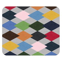Leather Colorful Diamond Design Double Sided Flano Blanket (small)