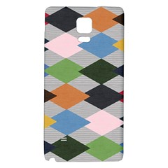 Leather Colorful Diamond Design Galaxy Note 4 Back Case