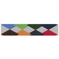 Leather Colorful Diamond Design Flano Scarf (small)