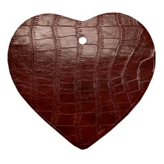 Leather Snake Skin Texture Ornament (Heart)