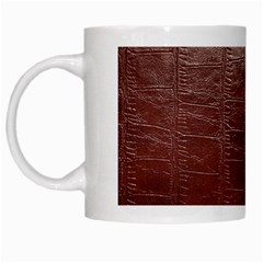Leather Snake Skin Texture White Mugs
