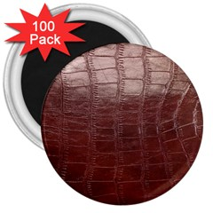 Leather Snake Skin Texture 3  Magnets (100 pack)