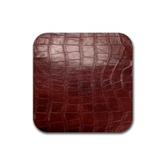 Leather Snake Skin Texture Rubber Square Coaster (4 Pack)
