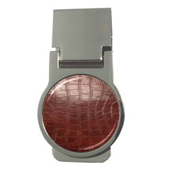 Leather Snake Skin Texture Money Clips (Round)