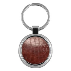 Leather Snake Skin Texture Key Chains (round)