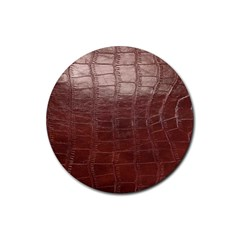 Leather Snake Skin Texture Rubber Round Coaster (4 pack)
