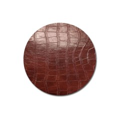Leather Snake Skin Texture Magnet 3  (Round)