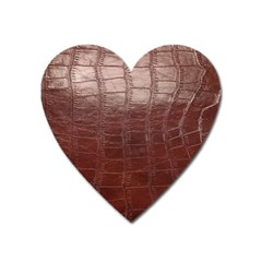 Leather Snake Skin Texture Heart Magnet