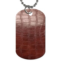 Leather Snake Skin Texture Dog Tag (One Side)
