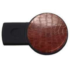 Leather Snake Skin Texture USB Flash Drive Round (1 GB)