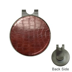 Leather Snake Skin Texture Hat Clips with Golf Markers