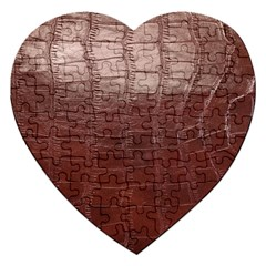Leather Snake Skin Texture Jigsaw Puzzle (Heart)