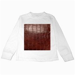 Leather Snake Skin Texture Kids Long Sleeve T-Shirts