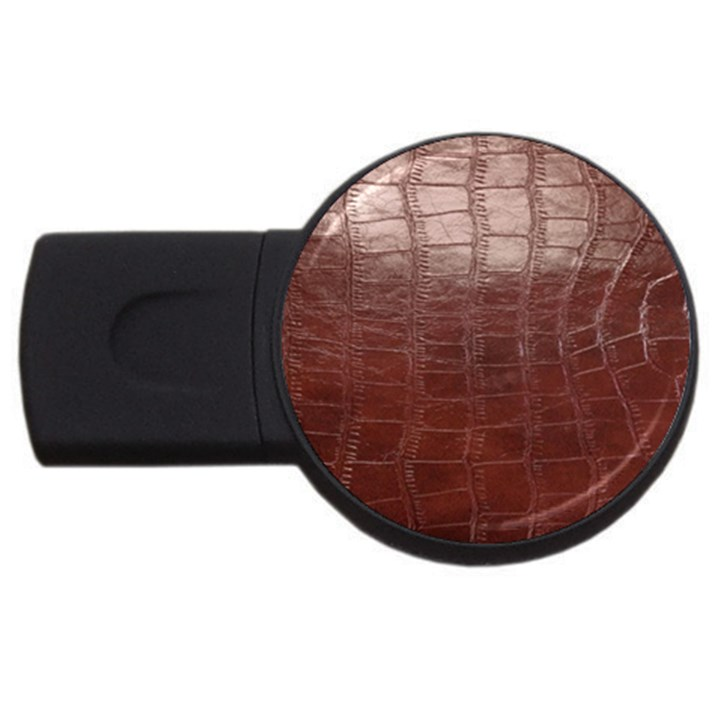 Leather Snake Skin Texture USB Flash Drive Round (4 GB)