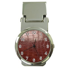 Leather Snake Skin Texture Money Clip Watches