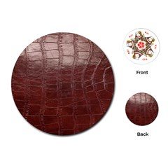 Leather Snake Skin Texture Playing Cards (Round)