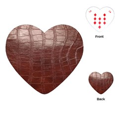 Leather Snake Skin Texture Playing Cards (Heart)