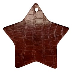 Leather Snake Skin Texture Star Ornament (Two Sides)