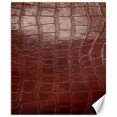 Leather Snake Skin Texture Canvas 8  x 10