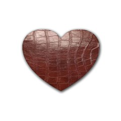 Leather Snake Skin Texture Heart Coaster (4 pack)
