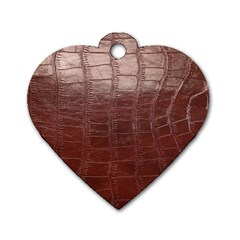 Leather Snake Skin Texture Dog Tag Heart (One Side)