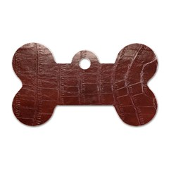 Leather Snake Skin Texture Dog Tag Bone (Two Sides)