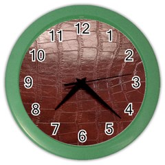 Leather Snake Skin Texture Color Wall Clocks