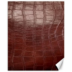Leather Snake Skin Texture Canvas 11  x 14