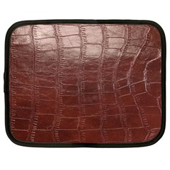 Leather Snake Skin Texture Netbook Case (Large)