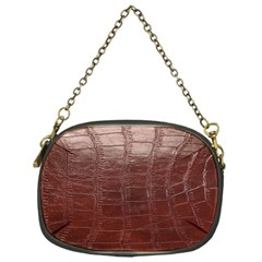 Leather Snake Skin Texture Chain Purses (One Side)
