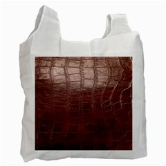 Leather Snake Skin Texture Recycle Bag (one Side)