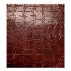 Leather Snake Skin Texture Shower Curtain 66  x 72  (Large)