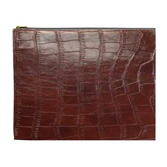 Leather Snake Skin Texture Cosmetic Bag (XL)