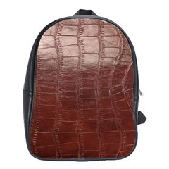 Leather Snake Skin Texture School Bags(Large)